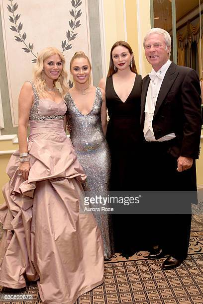 Julie Crenshaw Claire Crenshaw Catherine Crenshaw and Ben Crenshaw attend 62nd International Debutante Ball at The Pierre Hotel on December 29 2016...