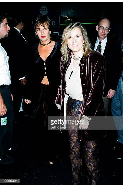 Julie Cypher and Melissa Etheridge during 1994 MTV Video Music Awards at Radio City Music Hall in New York City New York United States