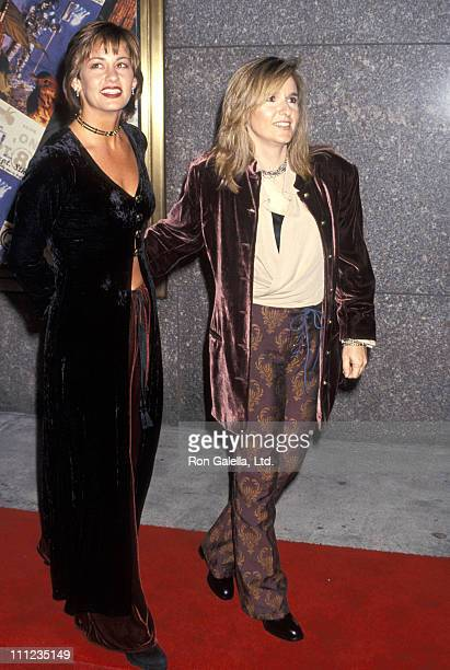 Julie Cypher and Melissa Etheridge during 1994 MTV Video Music Awards in New York City, New York, United States.