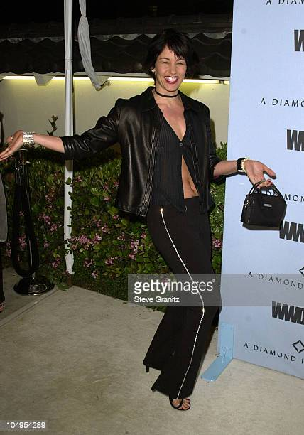 Julie Cypher during WWD's first BlackWhite and Diamonds PreOscar fashion bash at Temple Restaurant in Beverly Hills California United States