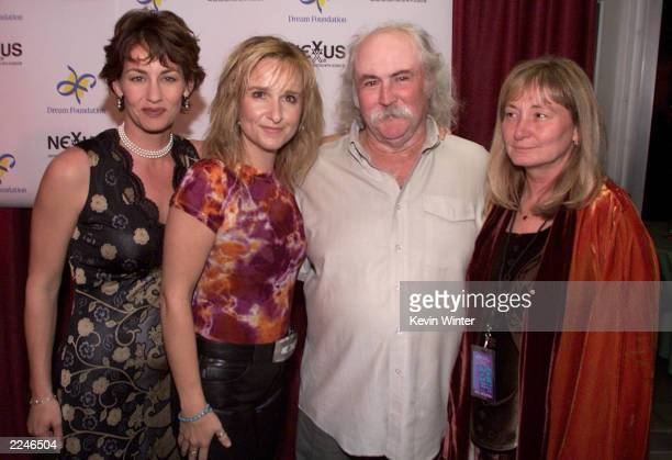 Julie Cypher Melissa Etheridge David and Jan Crosby at 'Friends of the Dream Foundation' a tribute to Jan and David Crosby presented by Nexus...