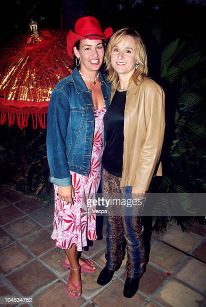 Julie Cypher Melissa Etheridge during GLAAD Fund Raising Dinner with Melissa Etheridge at Private House in Studio City California United States