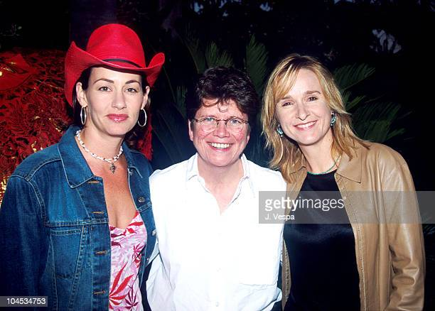 Julie Cypher Melissa Etheridge Joan Garry during GLAAD Fund Raising Dinner with Melissa Etheridge at Private House in Studio City California United...