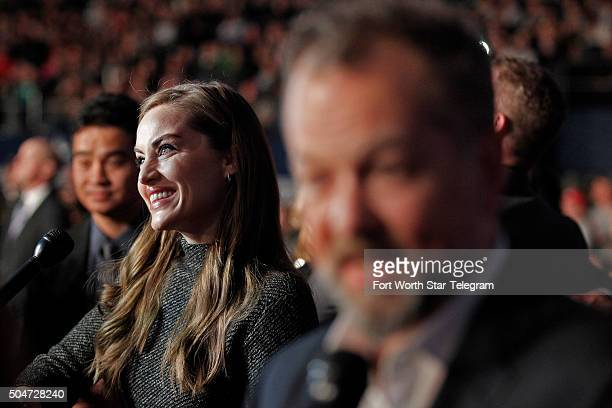 Julie Daniels and David Costabile attend the premiere of '13 Hours The Secret Soldiers of Benghazi' at ATT Stadium in Arlington Texas on Tuesday Jan...