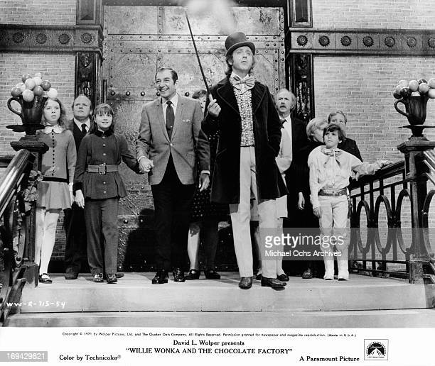 Julie Dawn Cole Roy Kinnear Denise Nickerson Leonard Stone Ursula Reit Gene Wilder Jack Albertson Peter Ostrum Paris Themmen and Michael Bollner at...