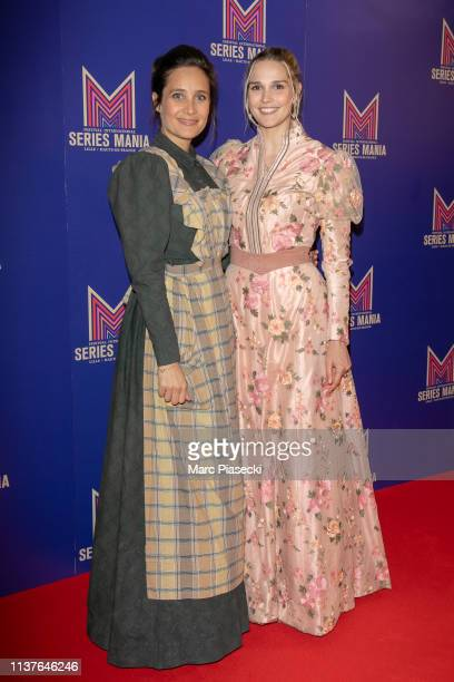 Julie de Bona and Camille Lou attend the 2nd Series Mania Festival opening ceremony on March 22 2019 in Lille France