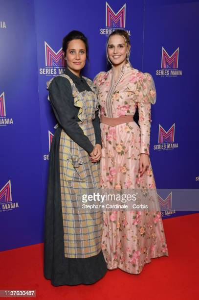 Julie de Bona and Camille Lou attends the Opening Ceremony of the 2nd Series Mania Festival In Lille on March 22, 2019 in Lille, France.