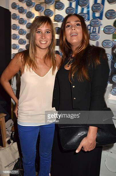 Julie de Bona and Lola Dewaere attend the Philadelphia 'Bar A Tartines' Launch Party In Paris at the Philadelphia Ephemere Shop on June 4 2013 in...