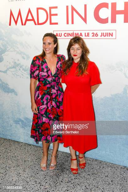 "Julie de Bona and Mylène Jampanoï attend the ""Made In China"" Paris Premiere photocall At 13eme Art cinema, in the 13th quarter of Paris, on June 17,..."