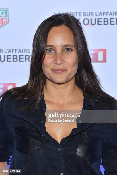 "Julie de Bona attends ""The Truth About The Harry Quebert Affair"" Premiere at Cinema Gaumont Marignan on November 12, 2018 in Paris, France."