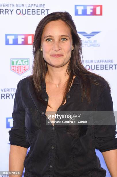 Julie de Bona attends 'The Truth About The Harry Quebert Affair' Premiere at Cinema Gaumont Marignan on November 12, 2018 in Paris, France.