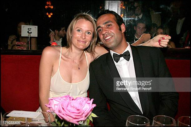 Julie De Noailles and Aatish Taaser Dinner at Maxim's to the benefit of the 'Fondation Motrice' for which Andrea Casiraghi accepted to become the...