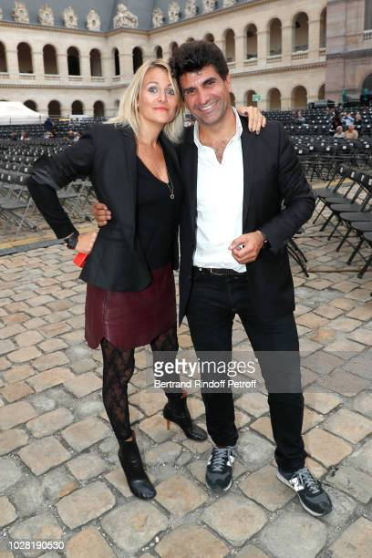 Julie de Noailles and CoProducer of the event Tristan Duval attend the Carmen Opera en Plein Air performance at Les Invalides on September 5 2018 in...