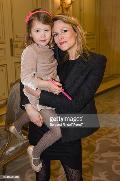 Julie de Noailles and her daughter AnnaLou GuerrandHermes attend the benefit party in aid of the 'Chirurgie Plus' association at Hotel Meurice on...