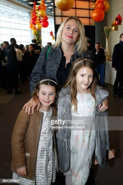 Julie de Noailles her daughter Annelou and Olivia Sur attend the 32th 'Reve d'Enfants' Charity Gala at Opera Bastille on December 17 2017 in Paris...