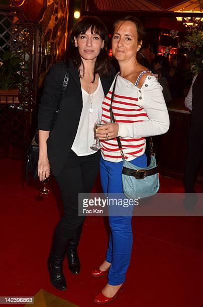 Julie Debazac and guest attend La Closerie des Lilas Litterary Awards 2012 - 5th Edition at La Closerie Des Lilas on April 3, 2012 in Paris, France.