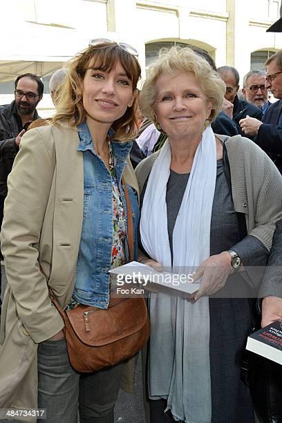 Julie Debazac and Marie Christine Barrault attend the 'Journees Nationales du Livre et du Vin 2014' At Bouvet Ladurey Cellars on April 13, 2014 in...
