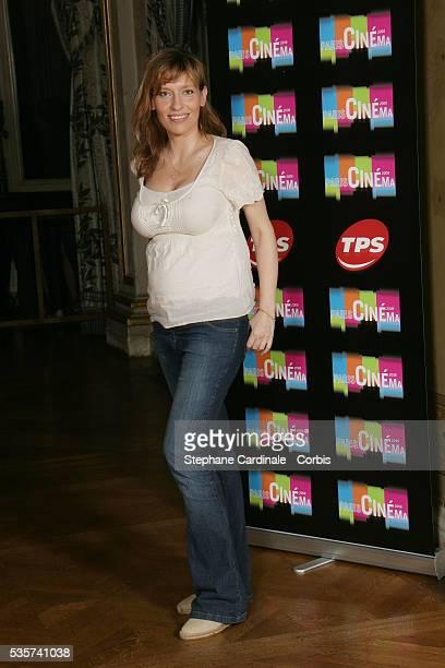 Julie Debazac arrives at the opening dinner of the Paris Film Festival held at the Hotel de Ville.