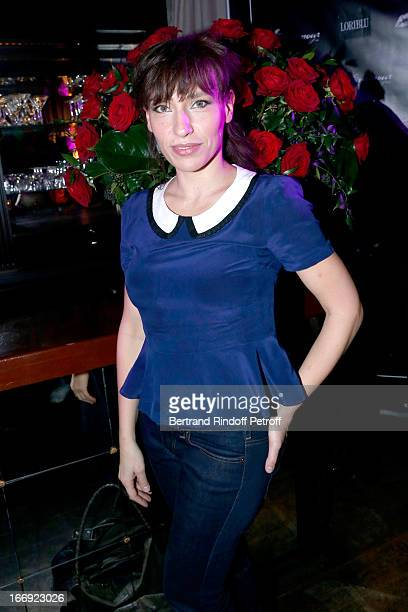 Julie Debazac attends 'Divamour' launch party at Tres Honore Bar on April 18, 2013 in Paris, France.