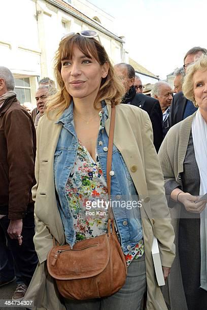 Julie Debazac attends the 'Journees Nationales du Livre et du Vin 2014' At Bouvet Ladurey Cellars on April 13, 2014 in Saumur, France.