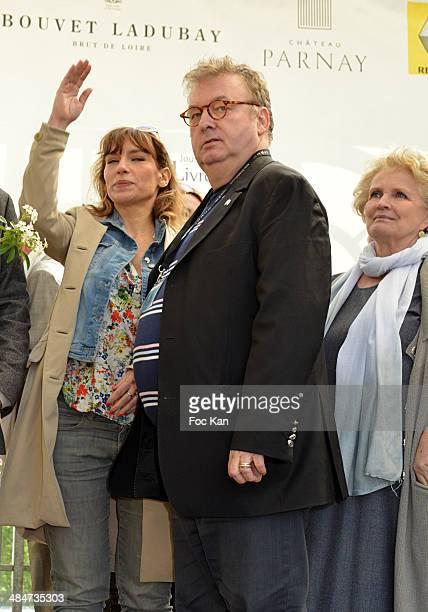 Julie Debazac, Dominique Besnehard and Marie Christine Barrault attend the 'Journees Nationales du Livre et du Vin 2014' At Bouvet Ladurey Cellars on...