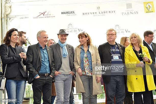 Julie Debazac, Dominique Besnehard, Delphine Coulin, Franz Olivier Giesbert, Cecile Maistre Chabroland Aurore Chabrol attend the 'Journees Nationales...