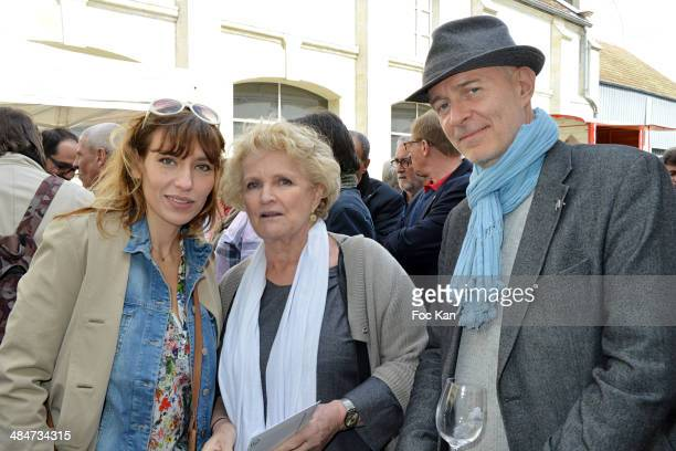 Julie Debazac, Marie Christine Barrault and a guesl attend the 'Journees Nationales du Livre et du Vin 2014' At Bouvet Ladurey Cellars on April 13,...
