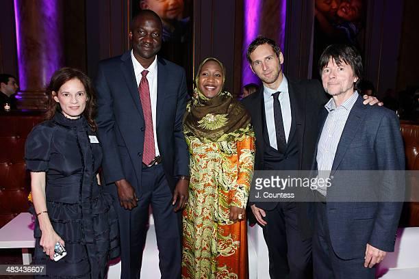 Julie Deborah Brown Abdel Ndiaye Mariama Ndiaye Actor Josh Lucas and Director Ken Burns attend the 2014 Room To Grow Gala at Capitale on April 8 2014...