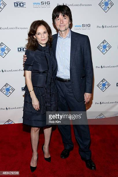 Julie Deborah Brown and Director Ken Burns attend the 2014 Room To Grow Gala at Capitale on April 8 2014 in New York City