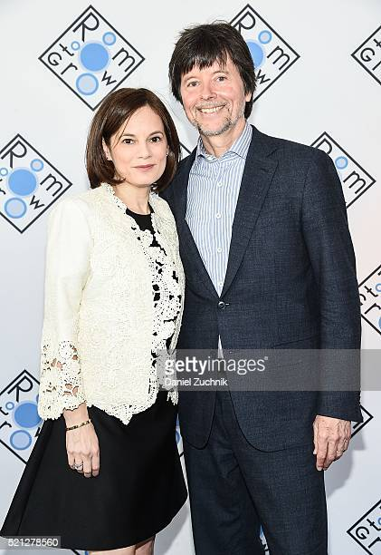 Julie Deborah Brown and Ken Burns attend the 2016 Room To Grow Spring Benefit at Tribeca Three Sixty on April 14 2016 in New York City