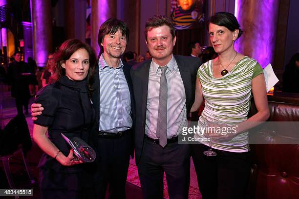 Julie Deborah Brown Director Ken Burns Beau Willimon and Michelle Willimon attend the 2014 Room To Grow Gala at Capitale on April 8 2014 in New York...
