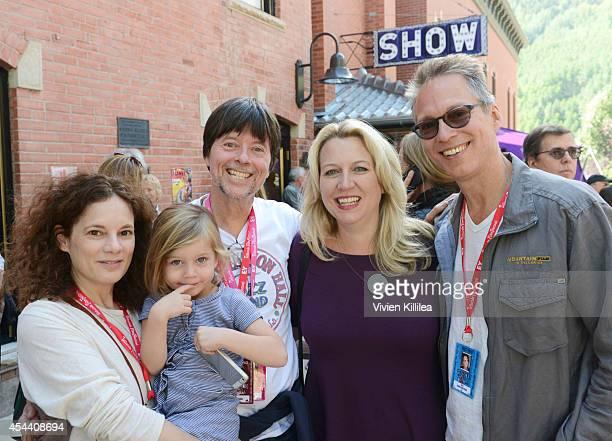 Julie Deborah Brown Sarah Burns director Ken Burns author Cheryl Strayed and Brian Lindstrom attend the 2014 Telluride Film Festival Day 2 on August...