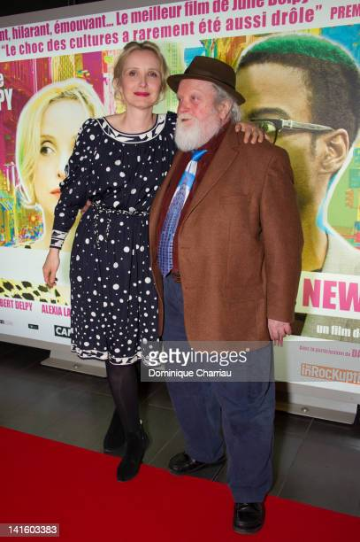 Julie Delpy and Albert Delpy attend '2 Days In New York' Premiere at Mk2 Bibliotheque on March 19 2012 in Paris France