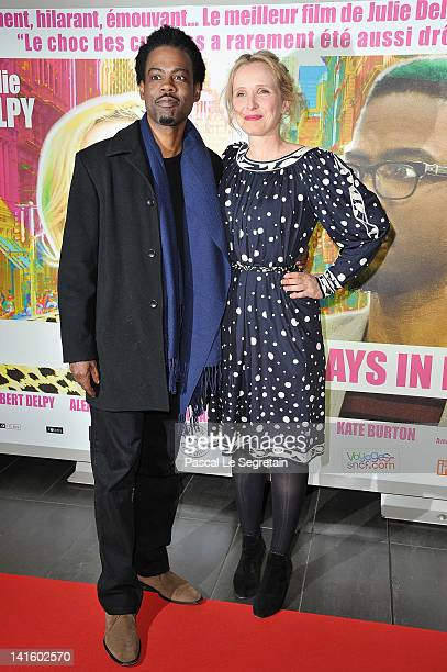 Julie Delpy and Chris Rock attend '2 Days In New York' Paris Premiere at Mk2 Bibliotheque on March 19 2012 in Paris France