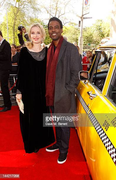 Julie Delpy and Chris Rock attend the UK premiere of 2 Days In New York at the Odeon Kensington on May 11 2012 in London England