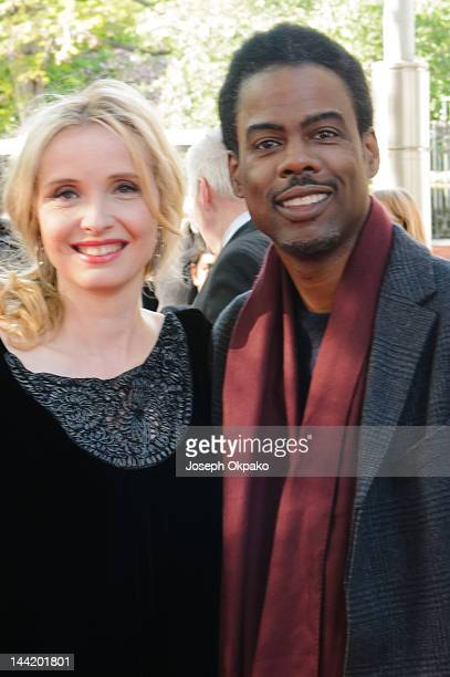 Julie Delpy and Chris Rock attends the UK premiere of '2 Days in New York' at ODEON Kensington on May 11 2012 in London England
