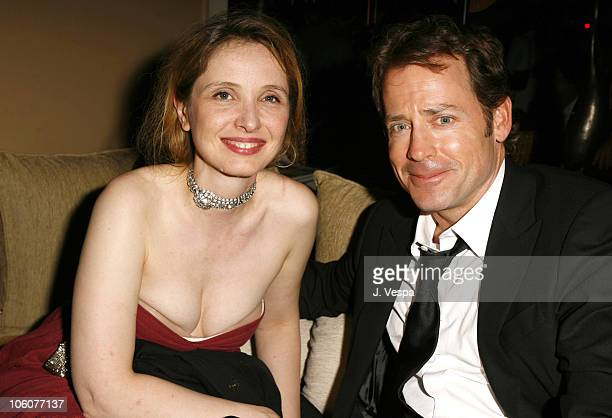 Julie Delpy and Greg Kinnear during 2006 Cannes Film Festival Fast Food Nation Afterparty at Century Club in Cannes France