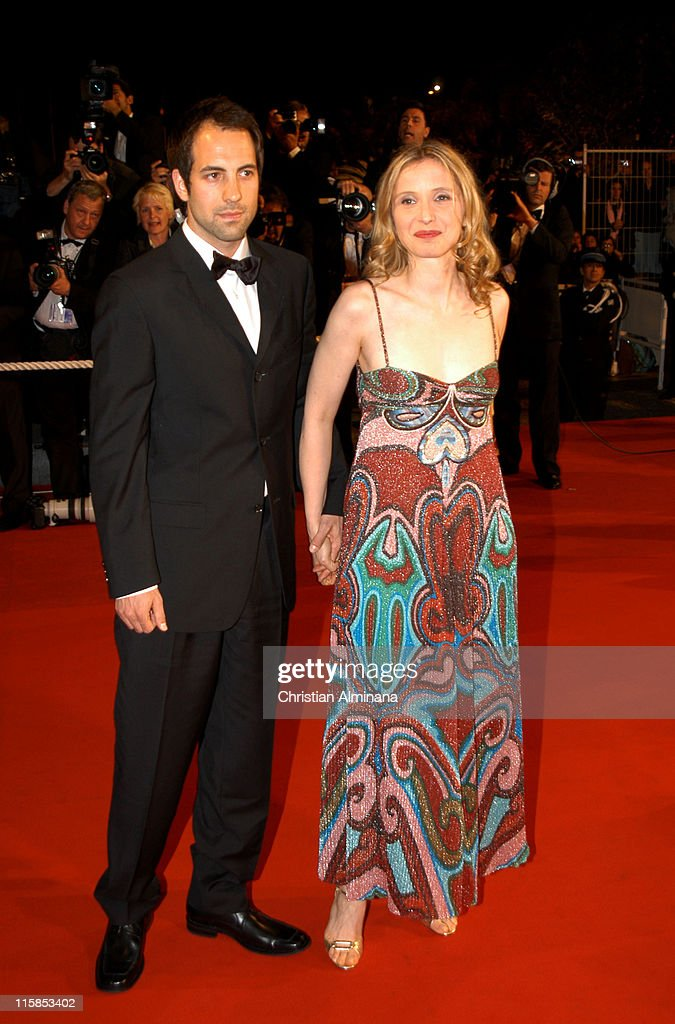 Julie Delpy and guest during 2005 Cannes Film Festival - 'A History of Violence' Premiere at Palais de Festival in Cannes, France.