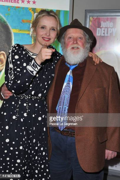 Julie Delpy and her father Albert Delpy attend '2 Days In New York' Paris Premiere at Mk2 Bibliotheque on March 19 2012 in Paris France