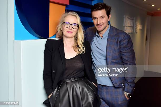 Julie Delpy and Richard Armitage stop by ATT ON LOCATION during Toronto International Film Festival 2019 at Hotel Le Germain on September 08 2019 in...