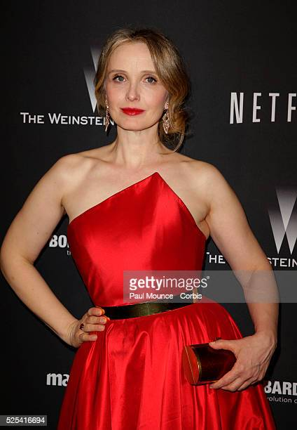 Julie Delpy arrives at the Weinstein Company Golden Globes AfterParty