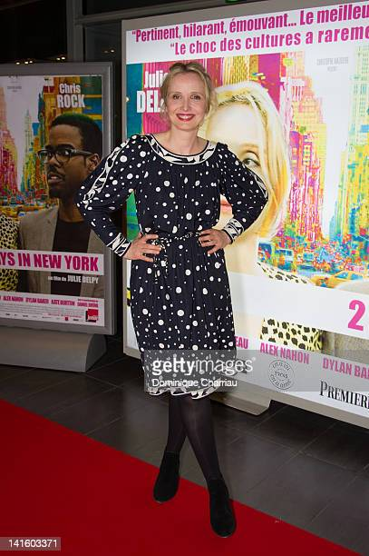 Julie Delpy attends '2 Days In New York' Premiere at Mk2 Bibliotheque on March 19 2012 in Paris France