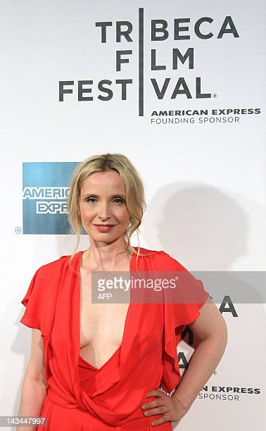 Julie Delpy attends the 2 Days In New York premiere during the 2012 Tribeca Film Festival at BMCC/TPAC in New York on April 26 2012 AFP PHOTO/Mehdi...