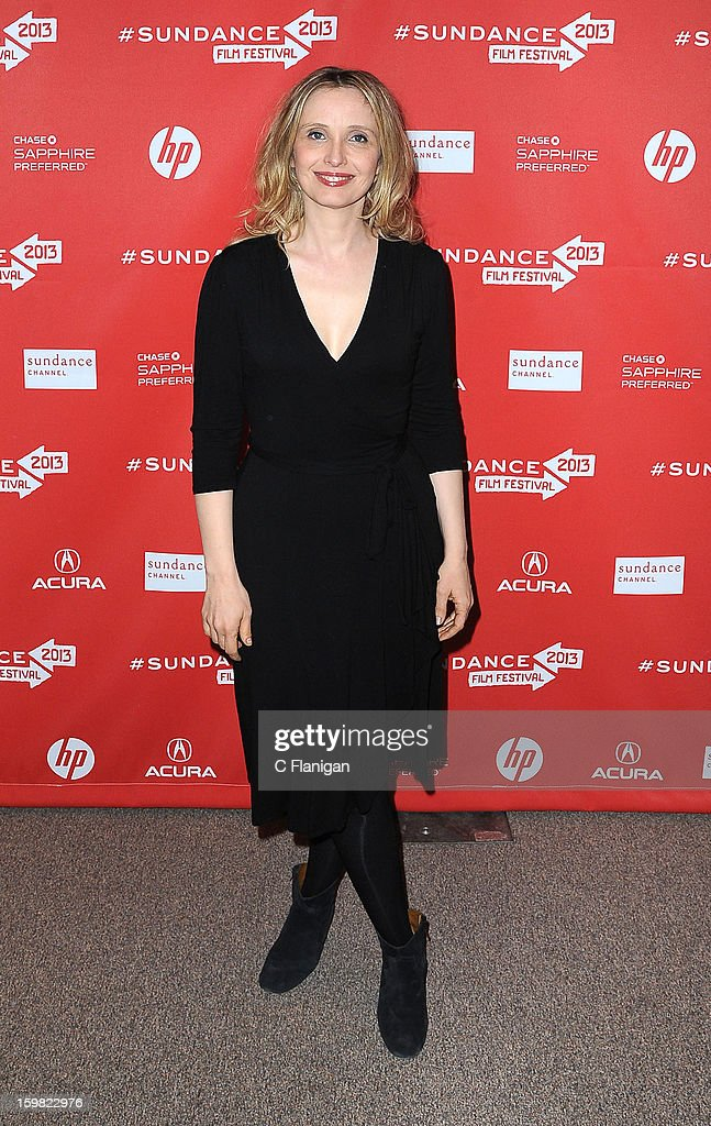 Julie Delpy attends the 'Before Midnight' premiere at Eccles Center Theatre during the 2013 Sundance Film Festival on January 20, 2013 in Park City, Utah.
