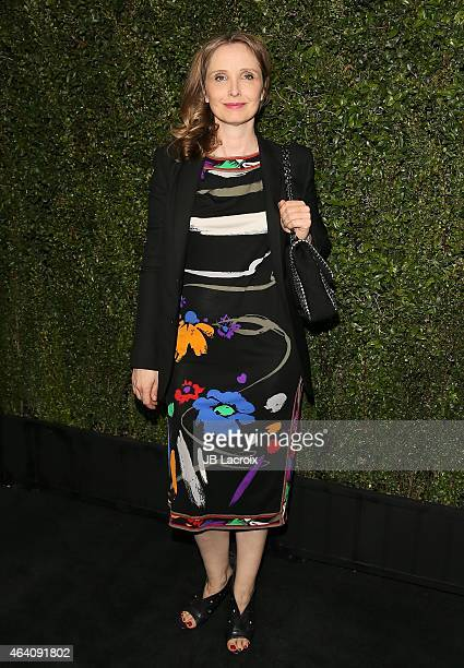 Julie Delpy attends the Chanel And Charles Finch PreOscar Dinner at Madeo Restaurant on February 21 2015 in West Hollywood California