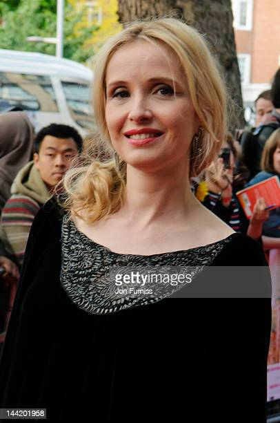 Julie Delpy attends the UK premiere of '2 Days in New York' at ODEON Kensington on May 11 2012 in London England
