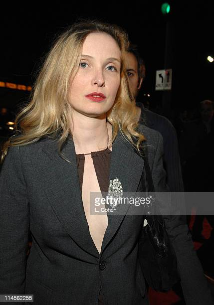 Julie Delpy during Babel Los Angeles Premiere Red Carpet at Mann Village in Westwood California United States