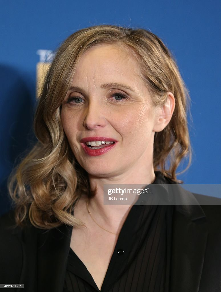 Julie Delpy poses in the press room at the 67th Annual Directors Guild Of America Awards at the Hyatt Regency Century Plaza on February 7, 2015 in Century City, California.