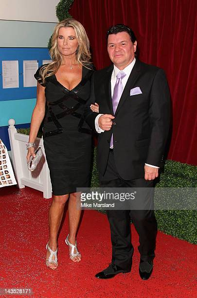 Julie Dennis and actor Jamie Foreman attend the British Soap Awards at The London Television Centre on April 28 2012 in London England