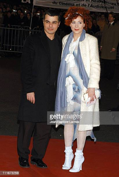 Julie Depardieu and her boyfriend Laurent during The 29th Cesar Awards Ceremony Arrivals at Chatelet Theatre in Paris France